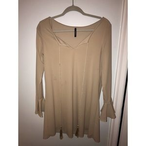 Beige Long-sleeve Dress from Nordstrom, M